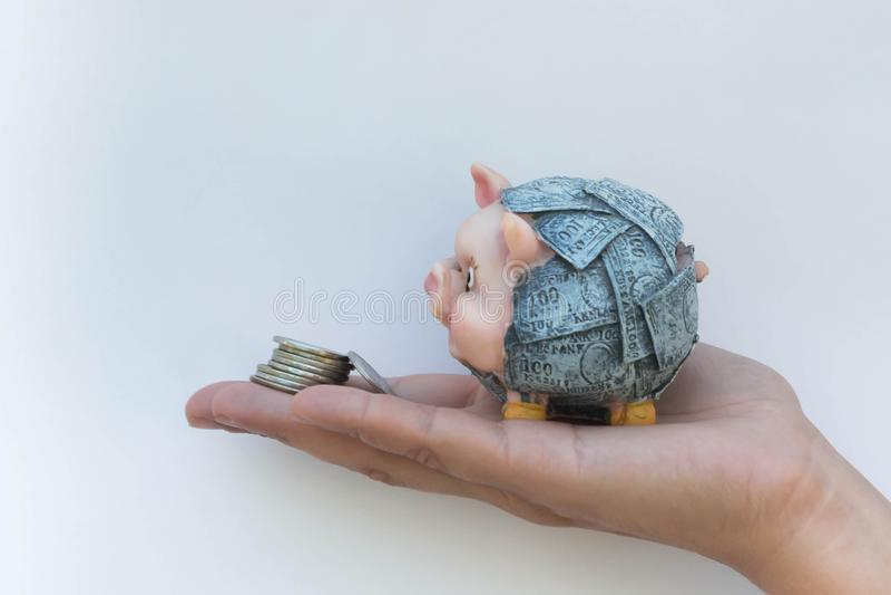 5贪心的银行 免版税库存照片