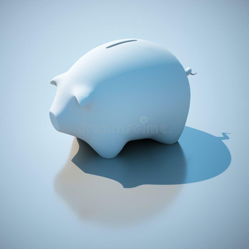 贪心的银行 免版税库存照片