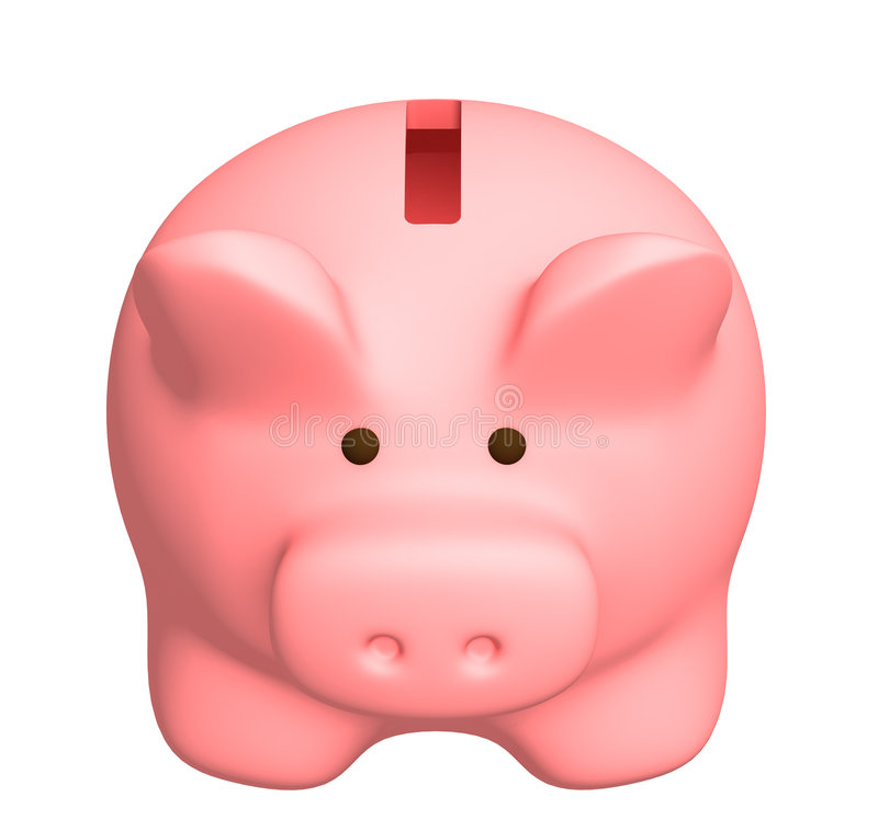 贪心的银行 向量例证