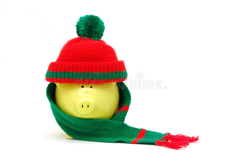 贪心银行的圣诞节 免版税图库摄影
