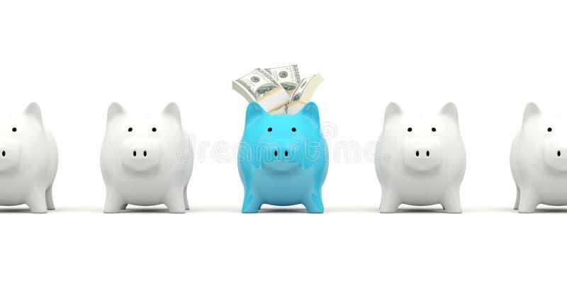 贪心银行的现金 向量例证