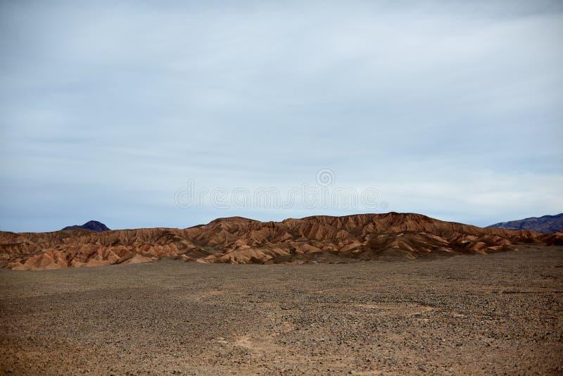 贫瘠山风景,死亡谷,美国 免版税库存照片