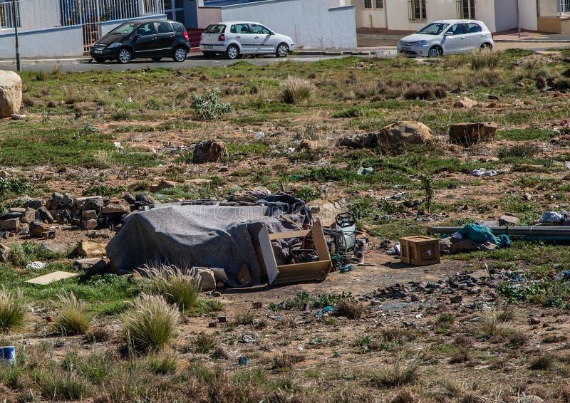 贫穷在开普敦在南非 免版税库存照片
