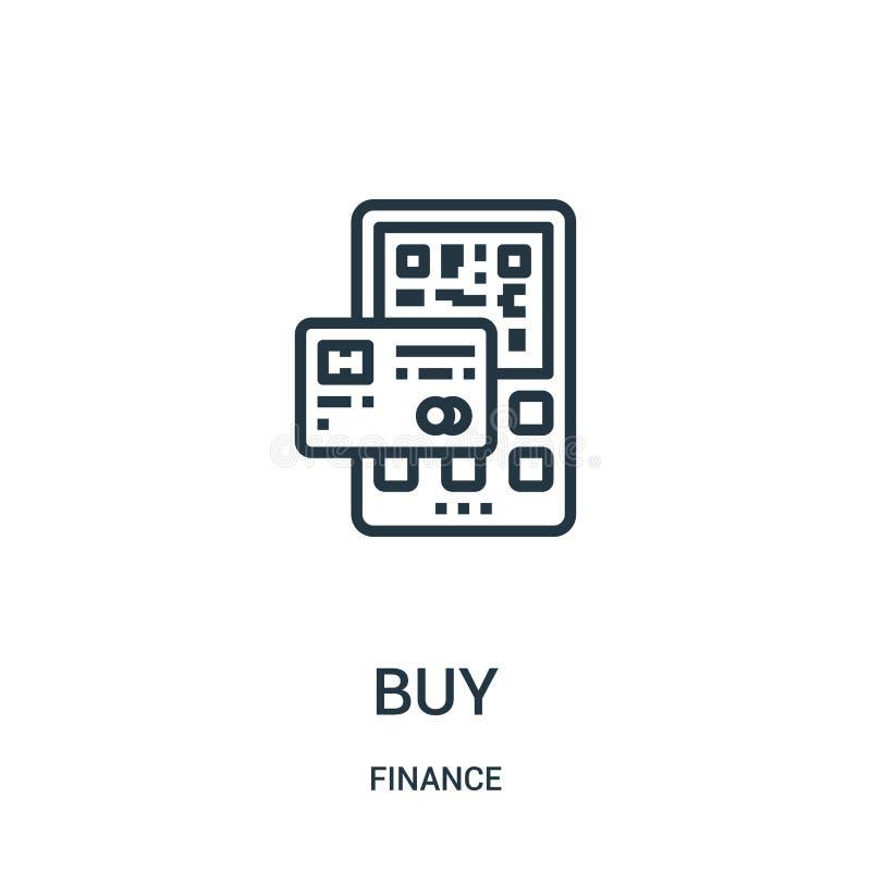 购买从财务汇集的象传染媒介 稀薄的线购买概述象传染媒介例证 线性标志为在网和机动性的使用 库存例证