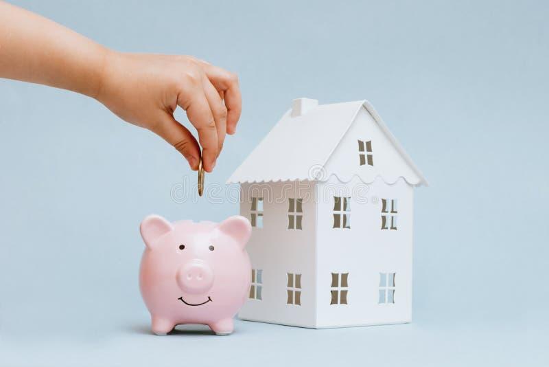 购买住房的储积 免版税图库摄影