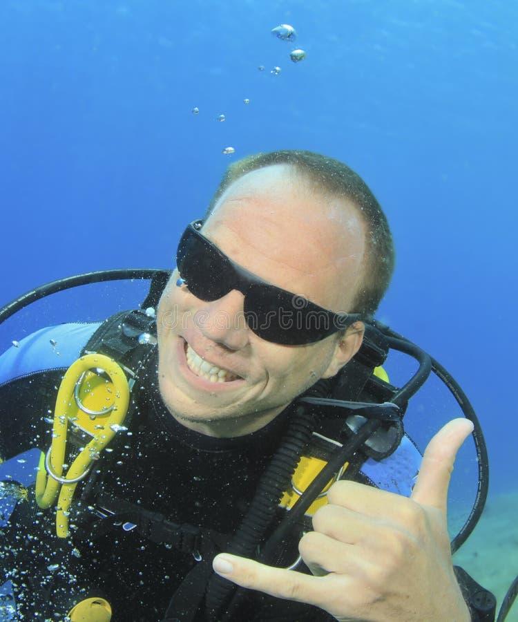 购买权潜水员我水肺版本 免版税图库摄影