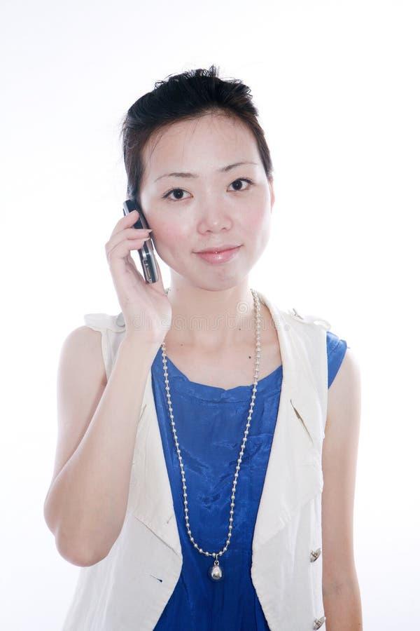 购买权移动电话妇女 库存图片