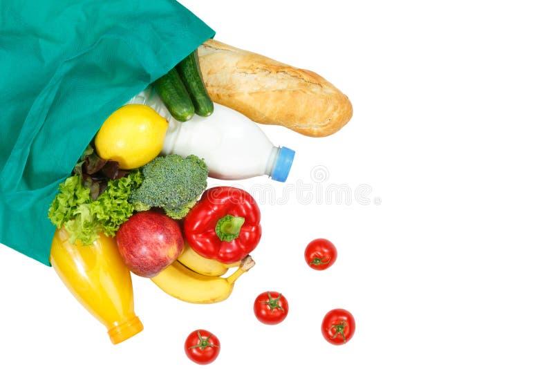购买食物购买水果和蔬菜copyspace拷贝温泉 免版税库存照片