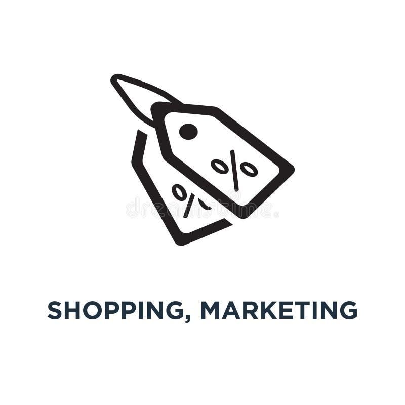 购物、营销和销售象象 购物例证 库存例证
