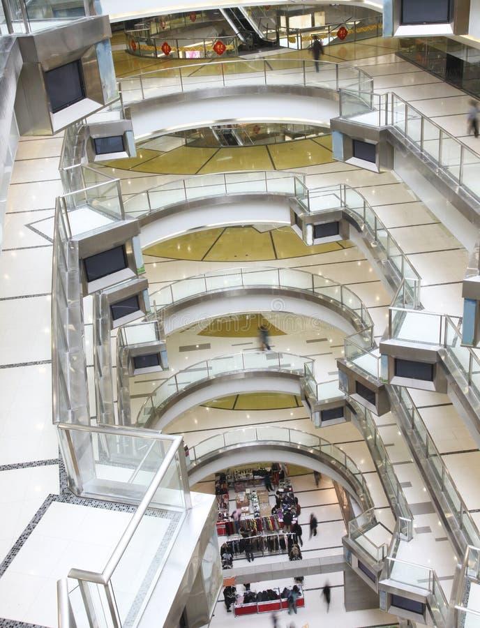 购物中心大量购物 免版税库存照片