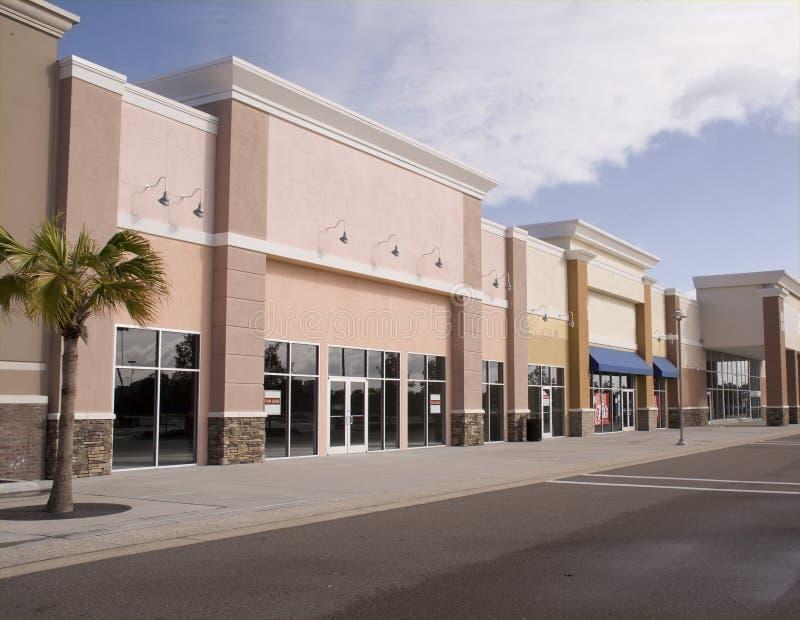 购物中心柔和的淡色彩店面 免版税库存图片
