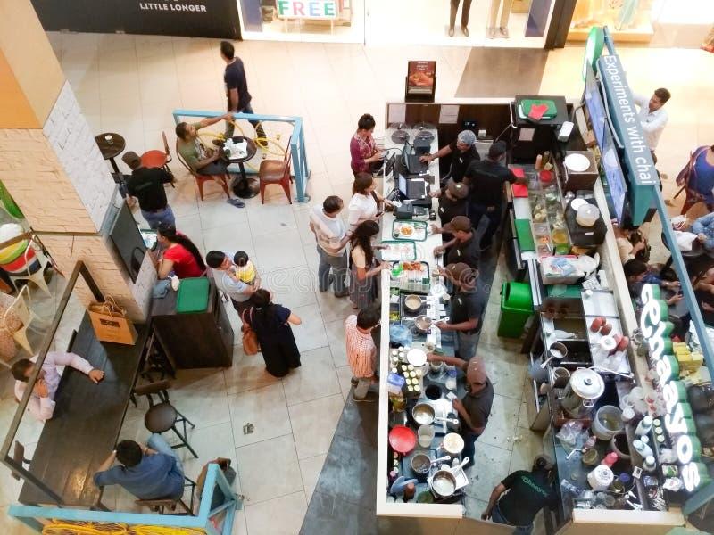 购物中心的Chaayos商店 图库摄影