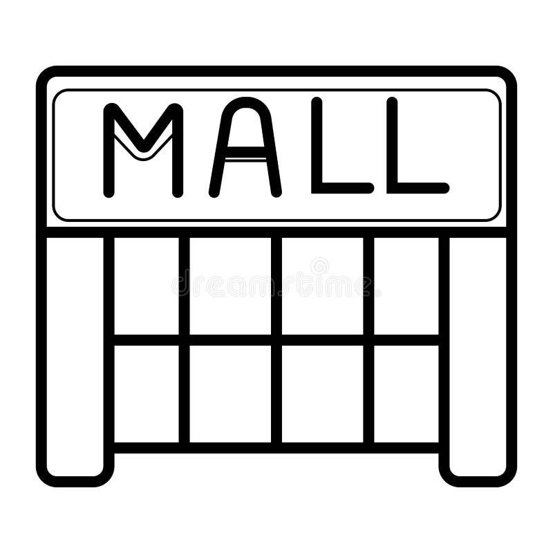 购物中心线性象 购物中心大厦 皇族释放例证