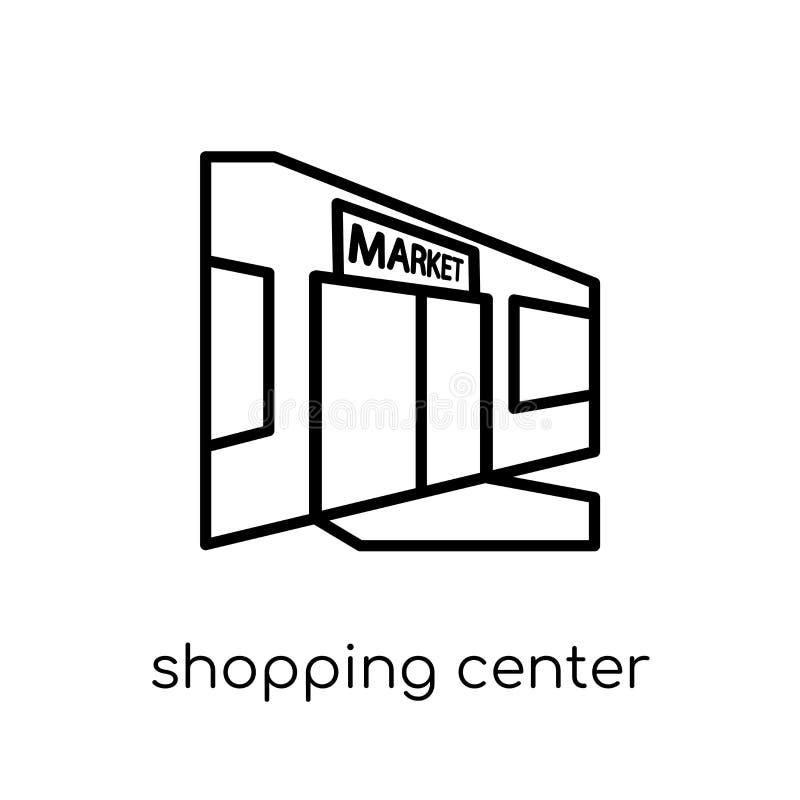 购物中心象 时髦现代平的线性传染媒介购物 库存例证