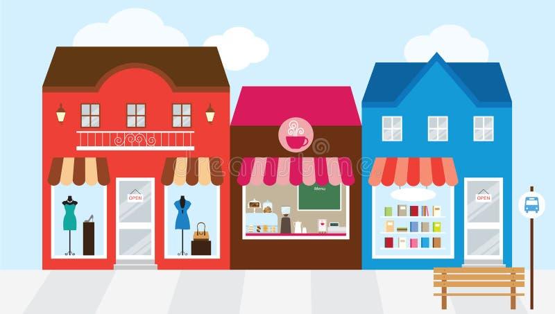 购物中心购物 向量例证