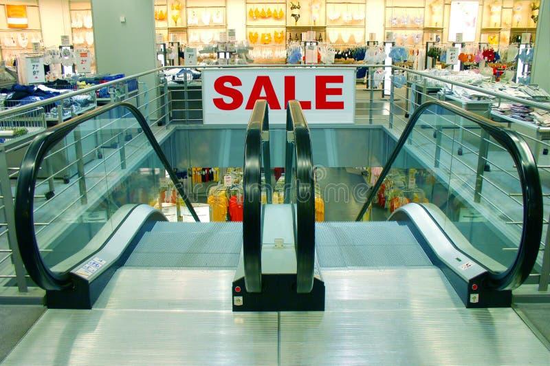 购物中心销售额购物符号 图库摄影