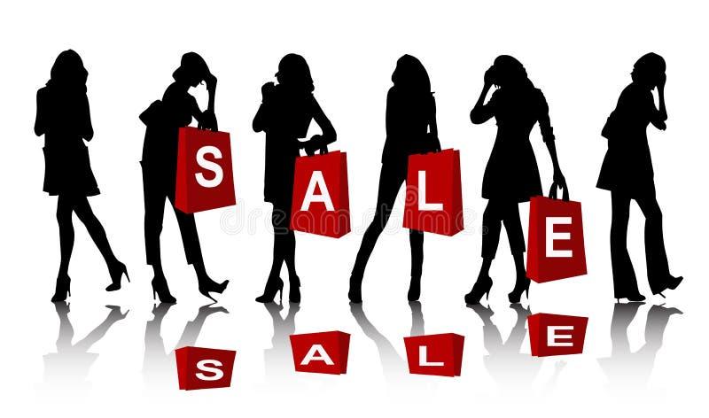 购物剪影妇女