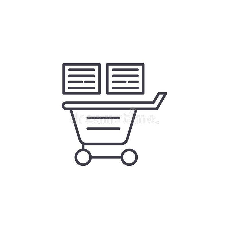 购物单线性象概念 购物单线传染媒介标志,标志,例证 皇族释放例证