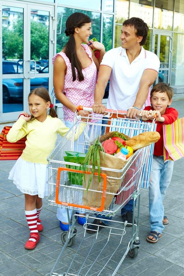 购物周末 免版税库存图片