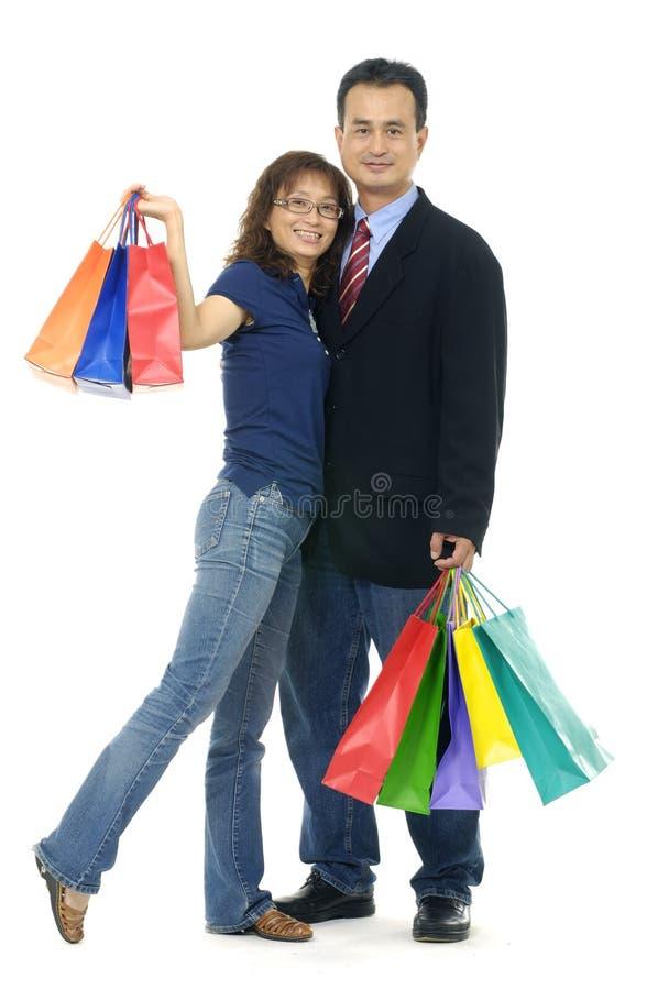 购物夫妇 免版税库存照片