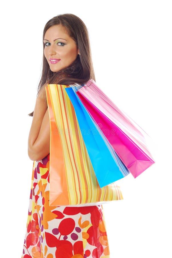 购物妇女年轻人 免版税库存图片