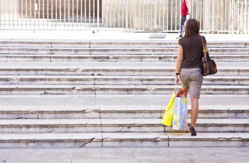 购物妇女年轻人 库存照片