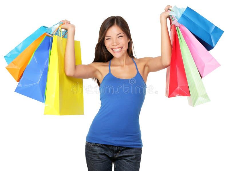 购物妇女藏品购物袋 库存照片