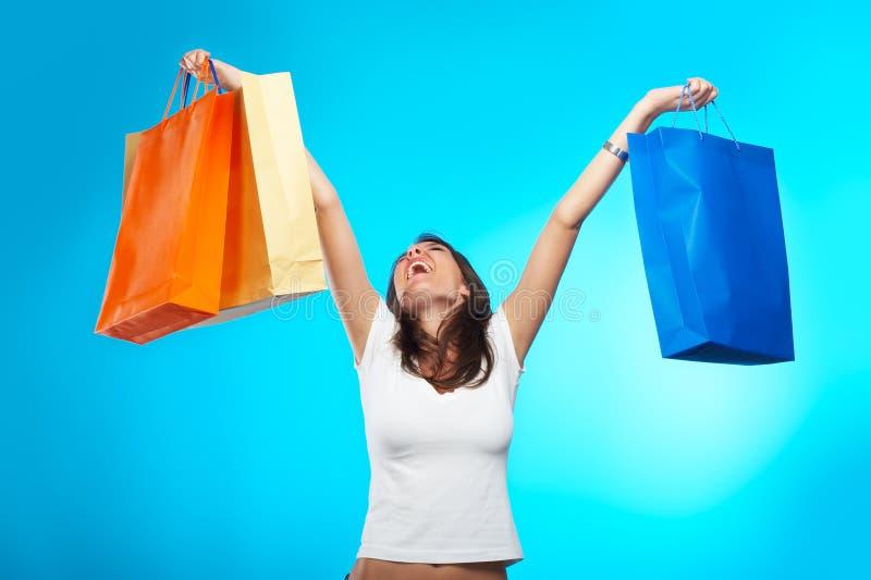 购物妇女 免版税库存图片