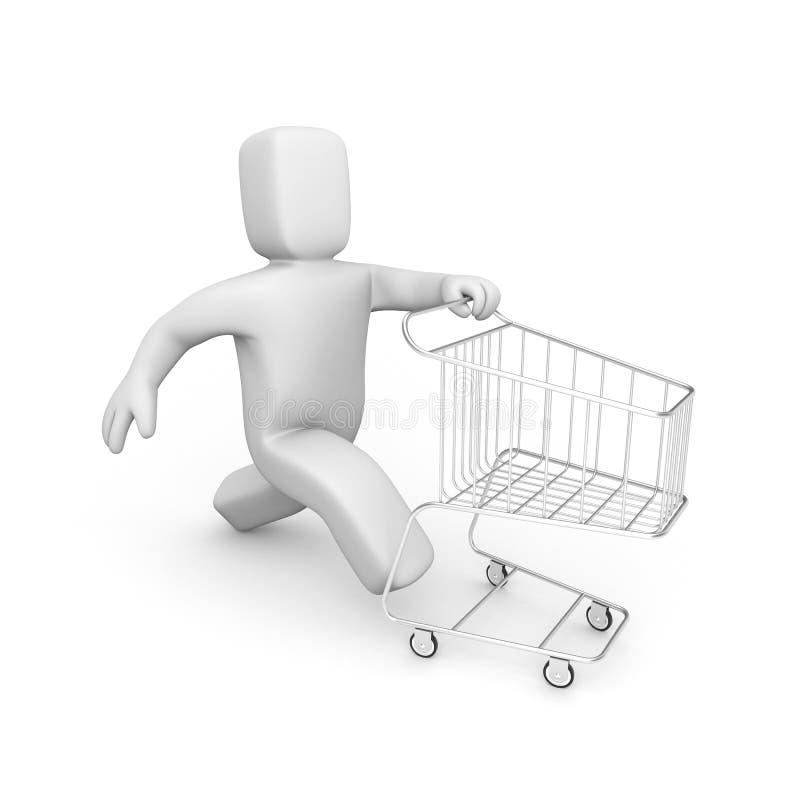 购物时间 向量例证