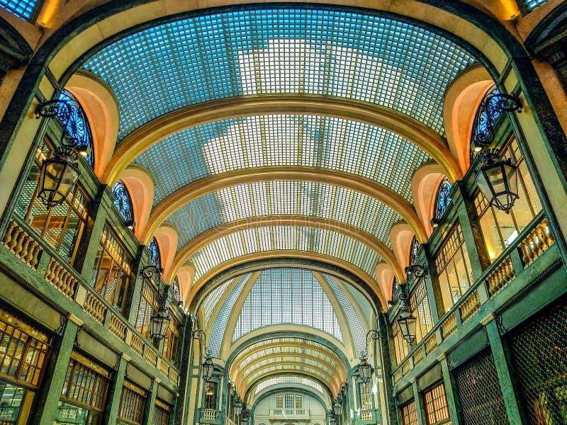 购物画廊圣费德里科在都灵意大利 图库摄影