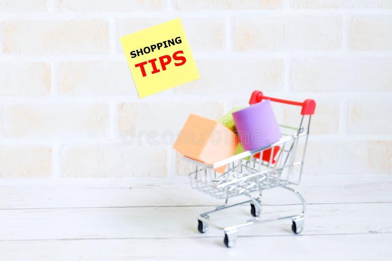 购物的技巧 免版税库存图片