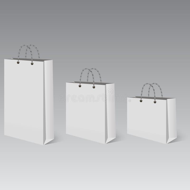 购物的现实空的袋子与阴影 也corel凹道例证向量 向量例证
