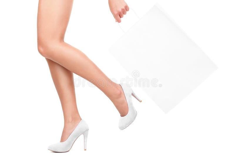 购物的白色 免版税库存照片