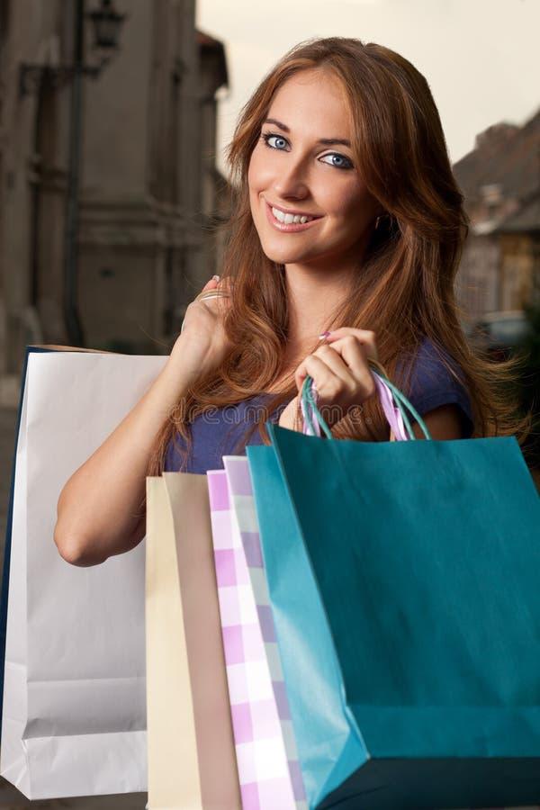 购物纵向 库存照片