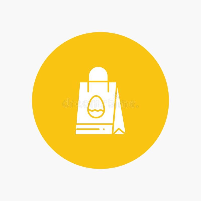 购物袋、袋子、复活节、鸡蛋 向量例证