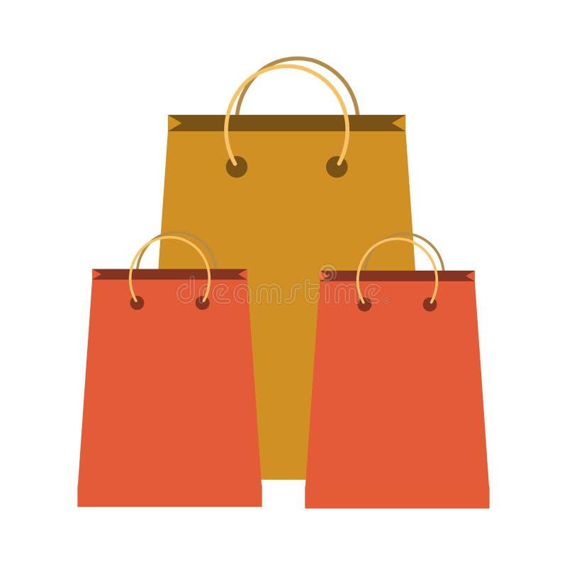 购物袋汇集 库存例证