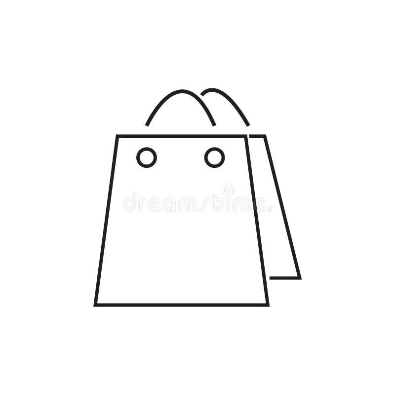 购物袋象传染媒介例证 E 库存例证