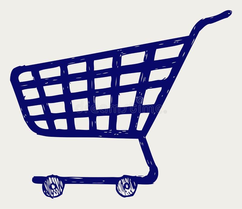 购物超级市场购物车 皇族释放例证