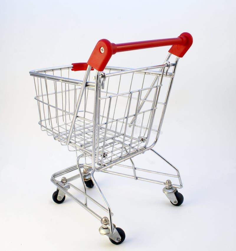 购物车后方购物视图 库存图片