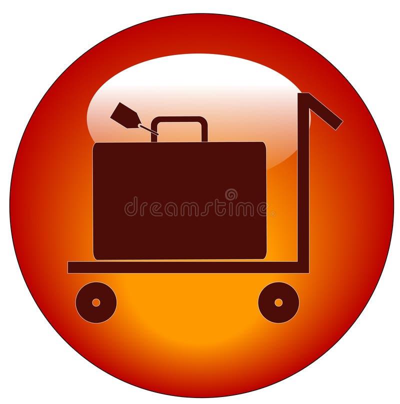 购物车图标皮箱 向量例证