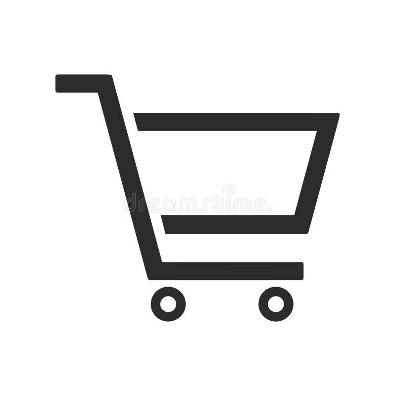 购物车图标红色系列购物 网上购物标志 界面符号 皇族释放例证