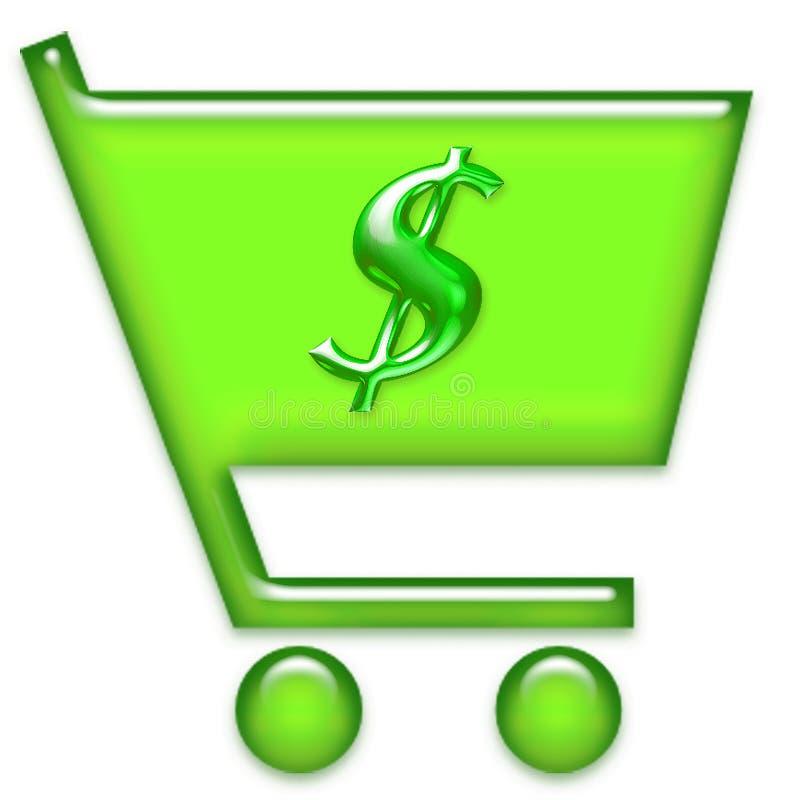 购物车图标购物 库存例证