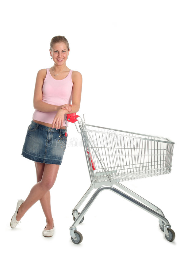 购物车女孩购物