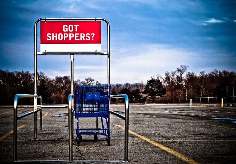 购物车批次停车购物 库存照片