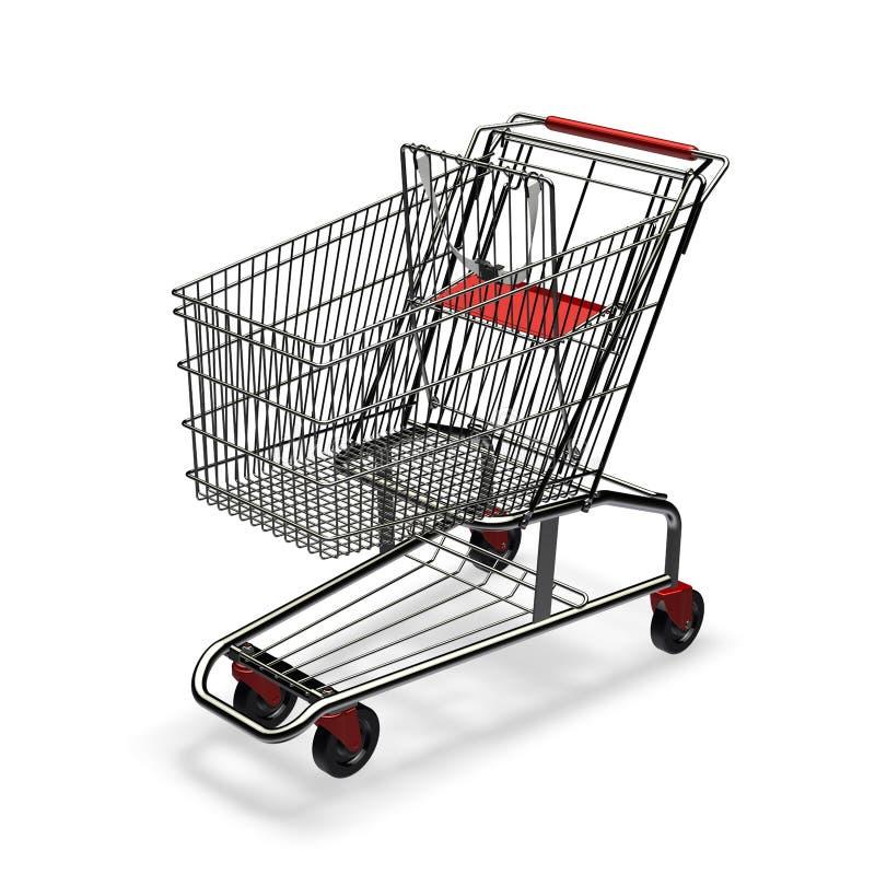 购物车空的购物 向量例证