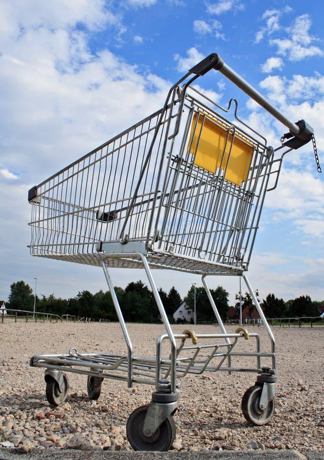 购物车空的购物 图库摄影
