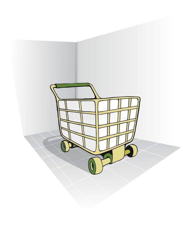 购物车绿色 免版税库存图片