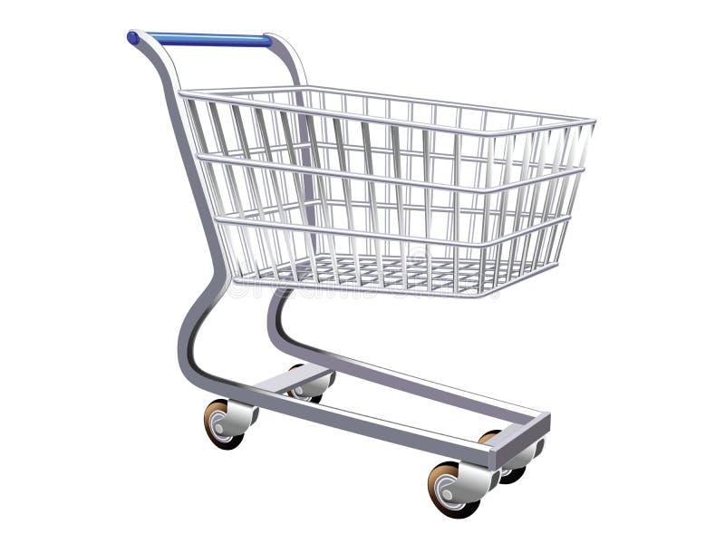 购物车被传统化的例证购物 库存例证