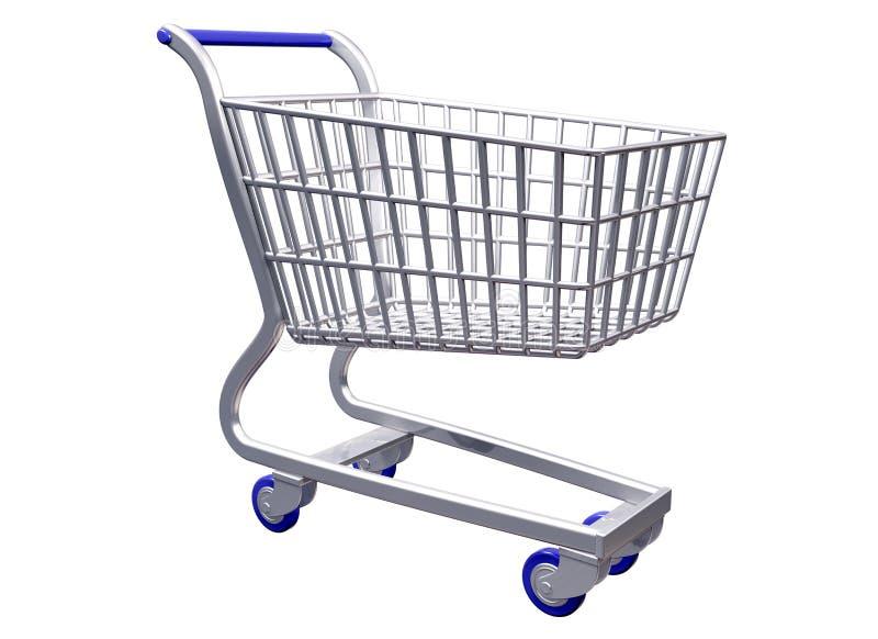 购物车被传统化的查出的购物 向量例证