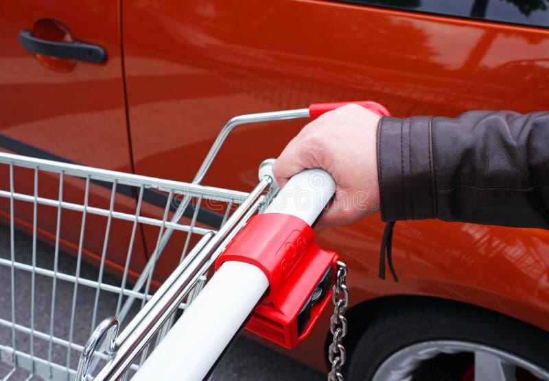 购物车详细资料副食品 免版税库存照片